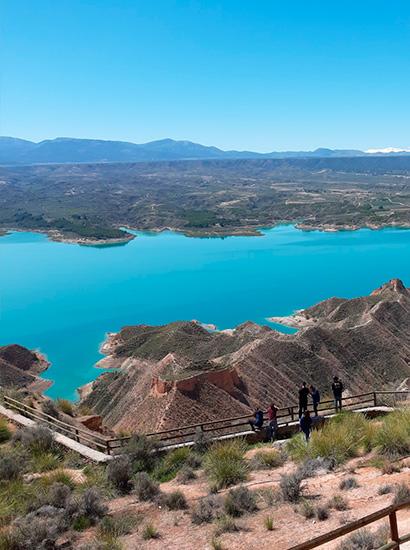 carcavas negratin 1 - Badlands of Negratín (Negratín Granada Geopark viewpoint) - Geoparque de Granada
