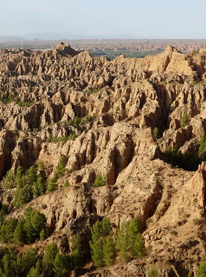 marchal 1 - Badlands of Marchal (piping) - Geoparque de Granada