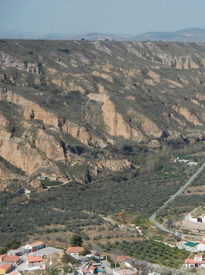 valle gor - Gor gully (Gorafe) - Geoparque de Granada