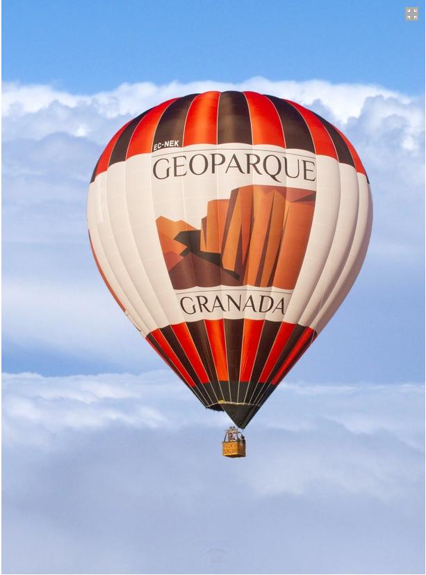 Globento Sur - El XX Festival de Aerostación estrena este fin de semana un globo con la marca Geoparque de Granada - Geoparque de Granada