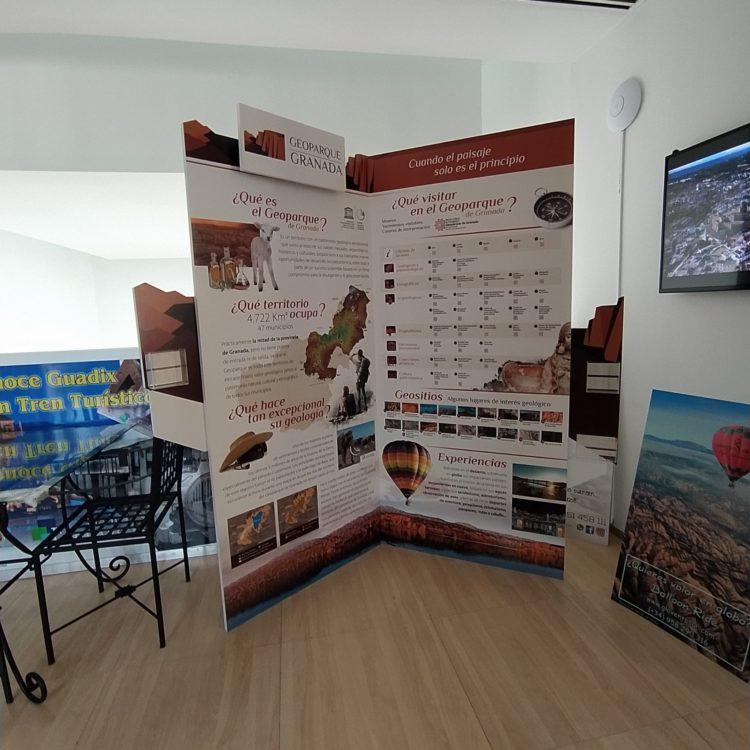 Rincón del Geoparque oficina de Turismo de Guadix 750x750 - El Geoparque instala espacios de promoción en 36 centros de interpretación y puntos de información turística del territorio - Geoparque de Granada