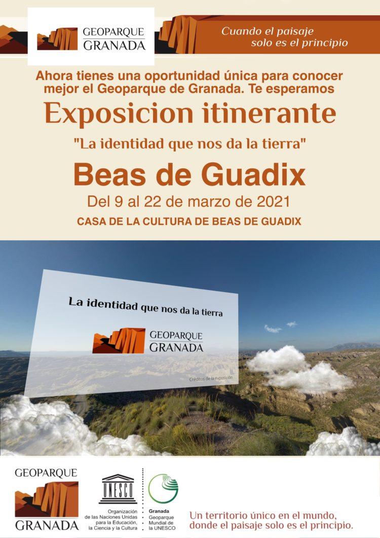A3 CARTEL INFORMATIVO EXPOSICIÓN ITINERANTE BEAS DE GUADIX copy 750x1061 - Exposición sobre el Geoparque, en BEAS DE GUADIX del 9 AL 22 de marzo de 2021. - Geoparque de Granada