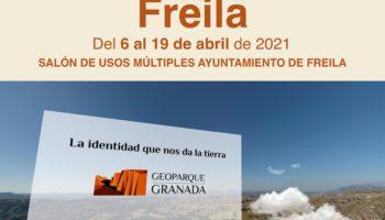 EXPOSICIÓN ITINERANTE FREILA 350x200 - Exposición sobre el Geoparque, en FREILA del 6 AL 19 de abril de 2021. - Geoparque de Granada