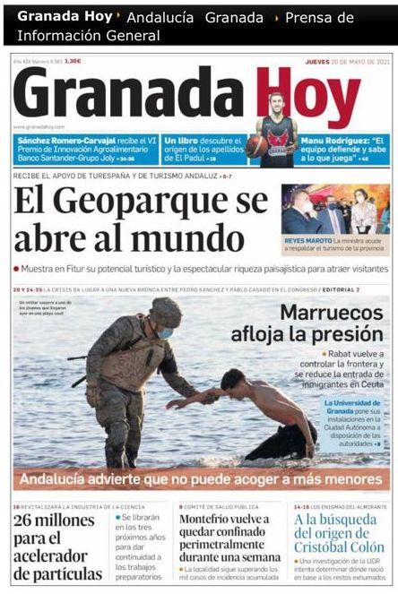 GEOPARQUE EN GRANADA HOY - La Diputación presenta el Geoparque de Granada en Fitur con el respaldo de Turespaña y Turismo Andaluz - Geoparque de Granada