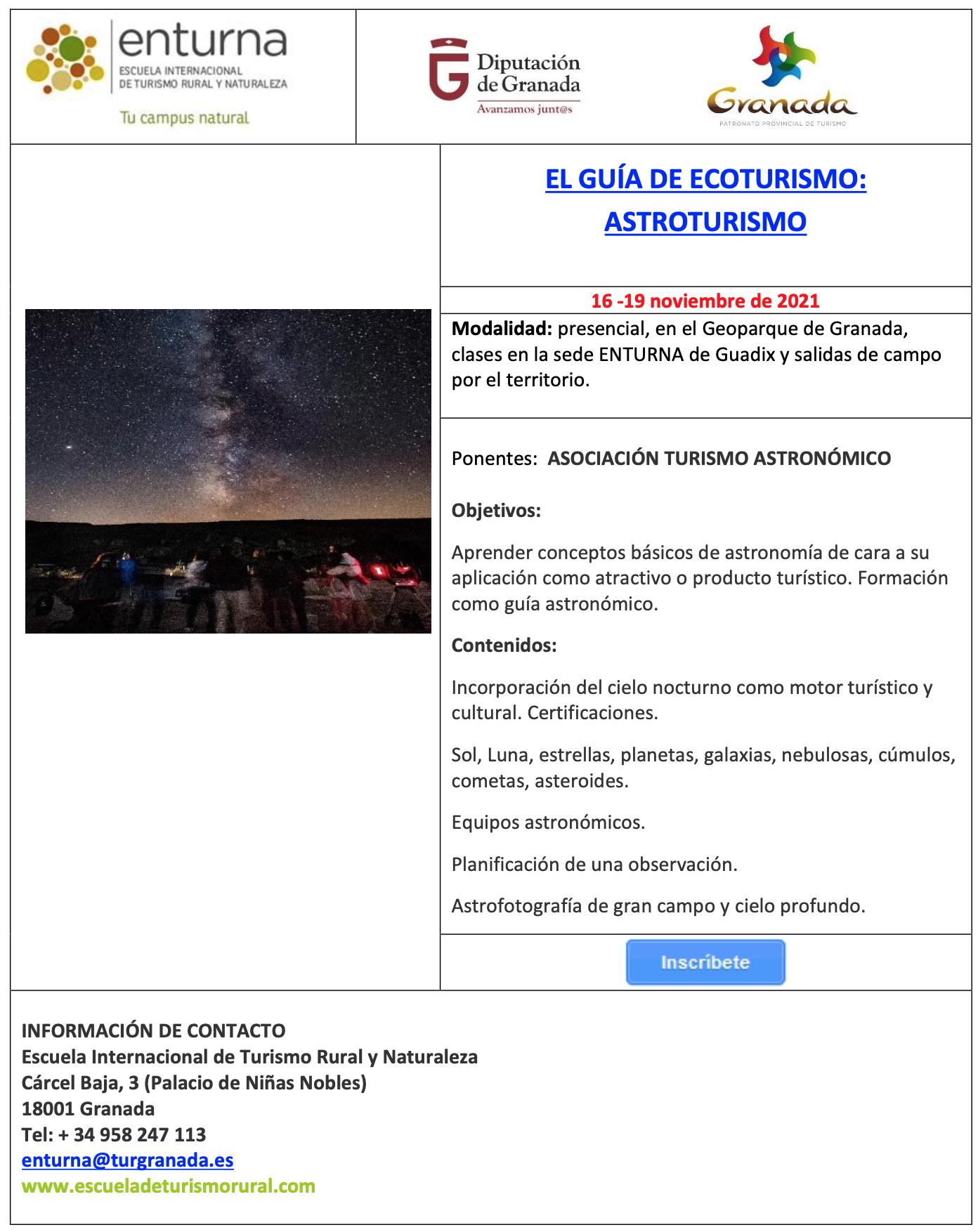 Screenshot 2021 10 11 at 18.34.27 - EL GUÍA DE ECOTURISMO: ASTROTURISMO - Geoparque de Granada