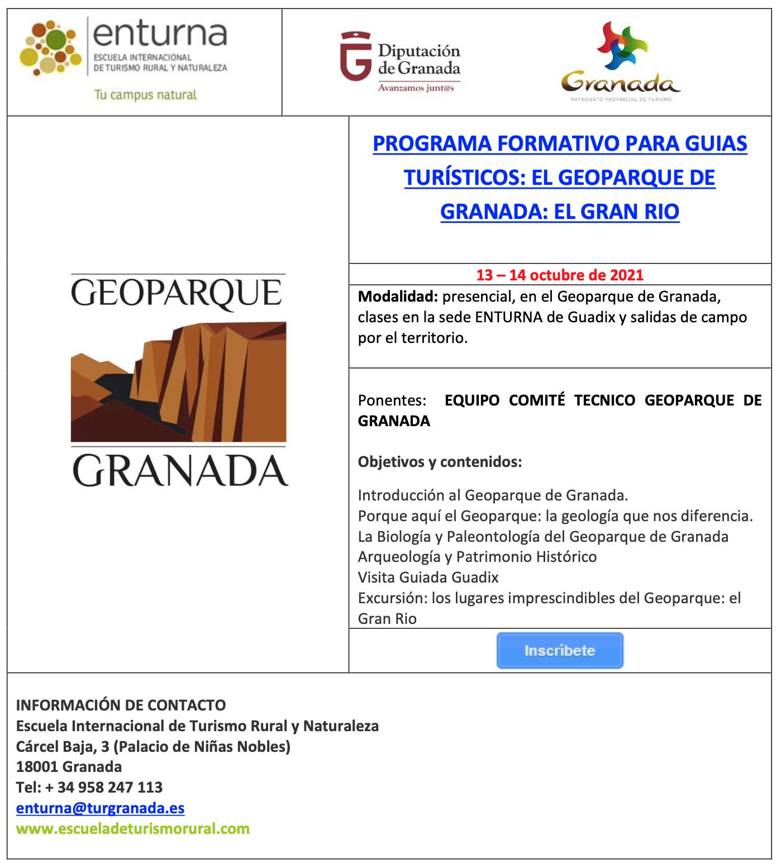 Screenshot 2021 10 11 at 18.48.03 - PROGRAMA FORMATIVO PARA GUIAS TURÍSTICOS: EL GEOPARQUE DE GRANADA: EL GRAN RIO - Geoparque de Granada