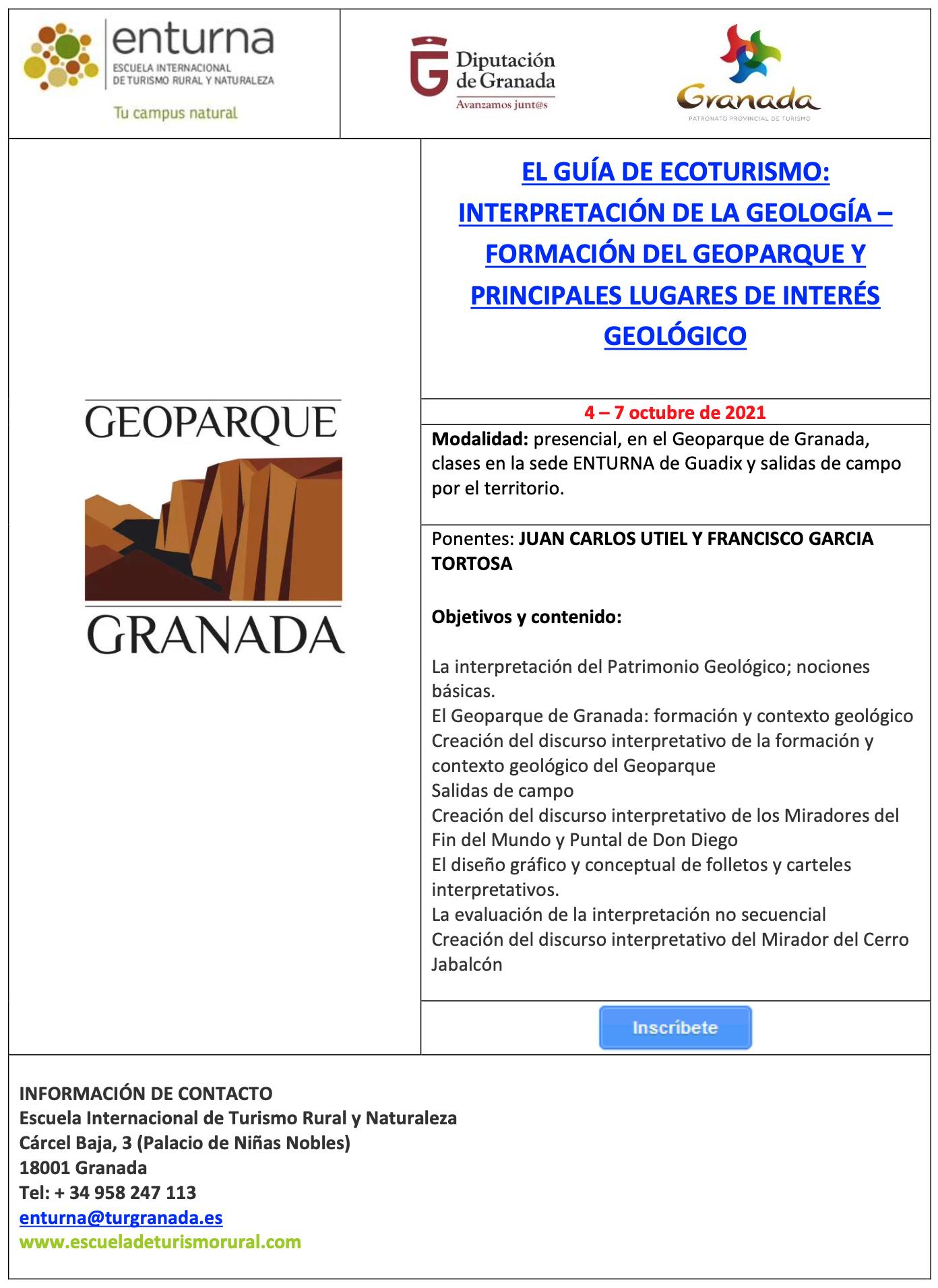 Screenshot 2021 10 11 at 18.51.50 - EL GUÍA DE ECOTURISMO: INTERPRETACIÓN DE LA GEOLOGÍA – FORMACIÓN DEL GEOPARQUE Y PRINCIPALES LUGARES DE INTERÉS GEOLÓGICO - Geoparque de Granada